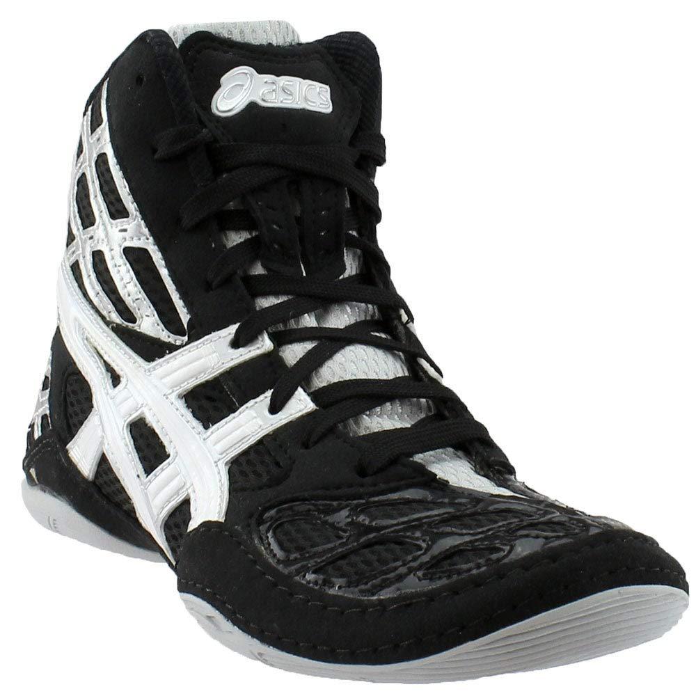 ASICS Men's Split Second 9 Wrestling Shoe,Black/White/Silver,6.5 M US by ASICS