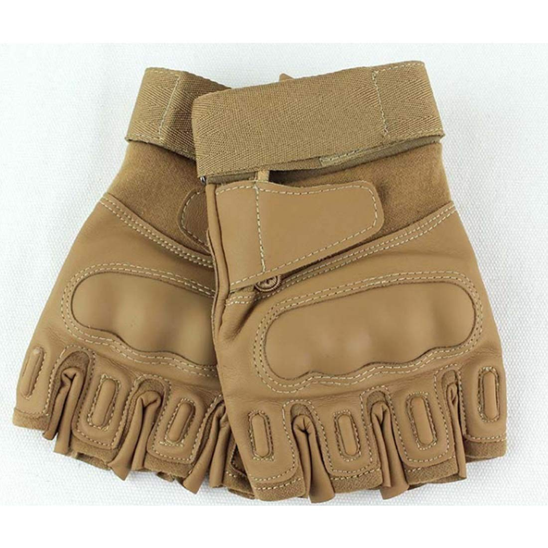 Carriemeow Outdoor Tactical Half Finger Gloves Bicycle Riding Sports Fitness Non-Slip Gloves