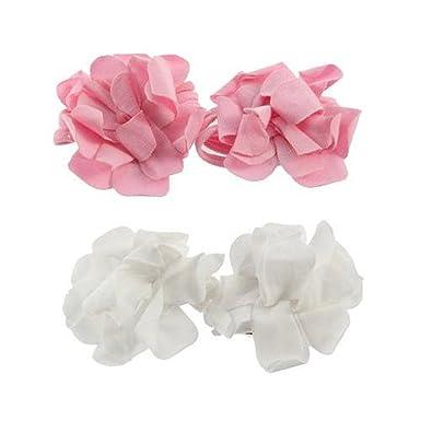 c4fedf94dc019b SODIAL(R) 2 Pairs cute Top newborn girl boy Toddler Baby Shoes Flower Design