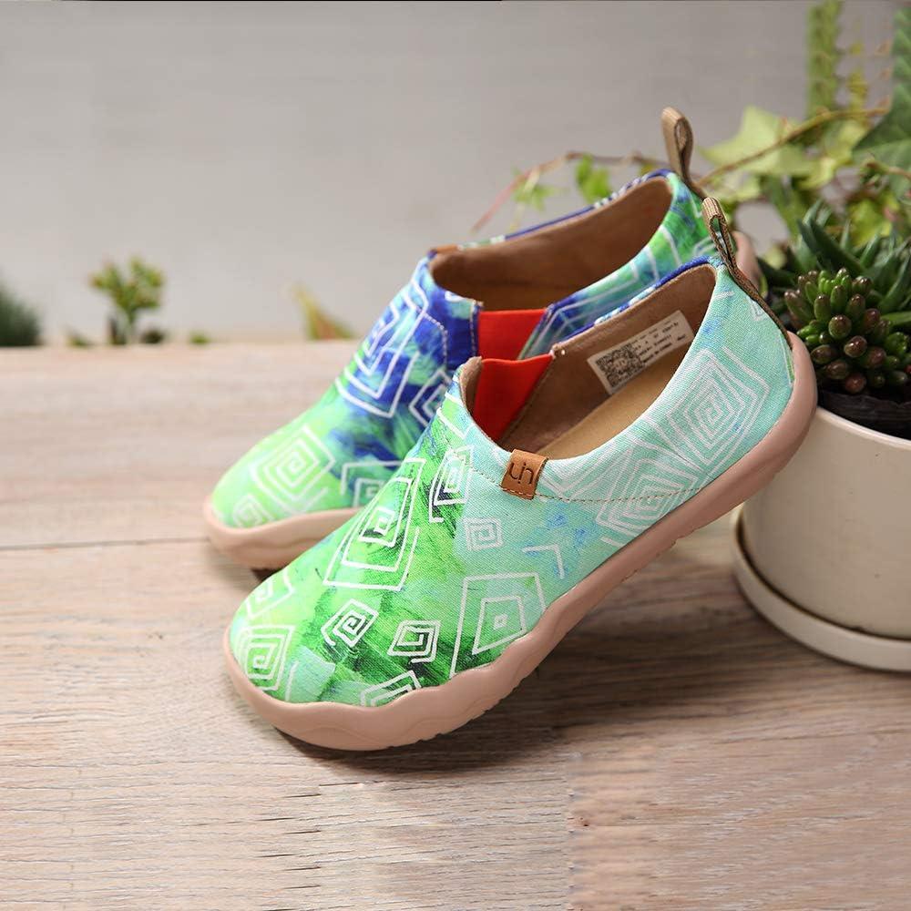 UIN Espadrilles Vert Toile Chaussures Bateau Femmes Printemps Et/é Confort Loafers Slipper Peint Sneakers Basses /à Enfiler Baskets Mode Chaussures de D/écontract/ées Sport L/ég/ères Plat Mocassins /…