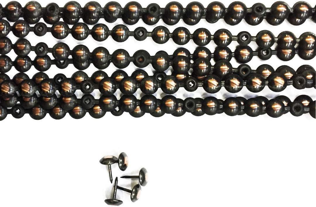 10 Bandes de Clous Tapissiers Cuivre Renaissance 9,5mm pour canap/és fauteuils et chaises