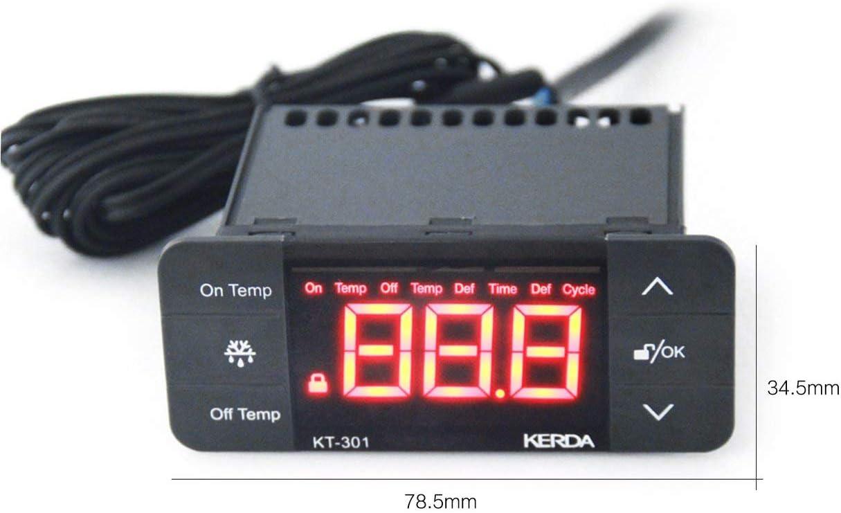 KT-301 Controlador de temperatura Termostato Sensor de temperatura ...