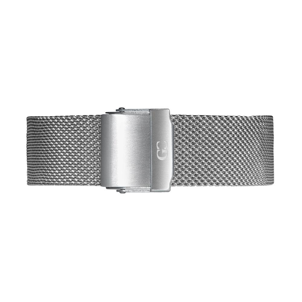Gelfand & Co. Quick Release Interchangeable Watch Strap Mesh 18mm Silver