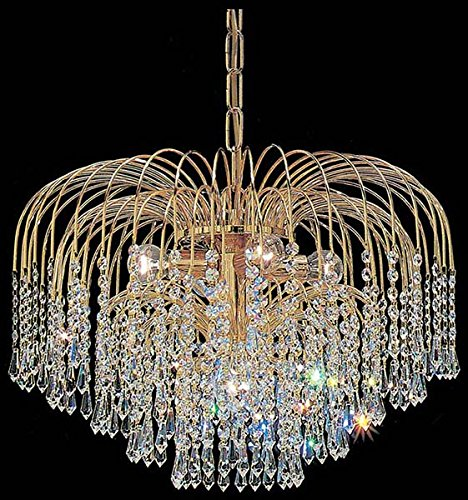 Classic Lighting 1041 G CP Sprays, Crystal, Chandelier, 24k Gold Plate