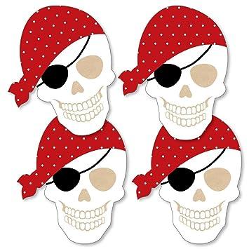 Amazon Com Beware Of Pirates Pirate Skull Decorations Diy Pirate