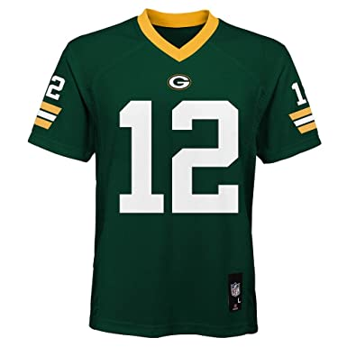 74dedad1 Aaron Rodgers Green Bay Packers NFL Kids Green Home Mid-Tier Jersey (Size  5/6)