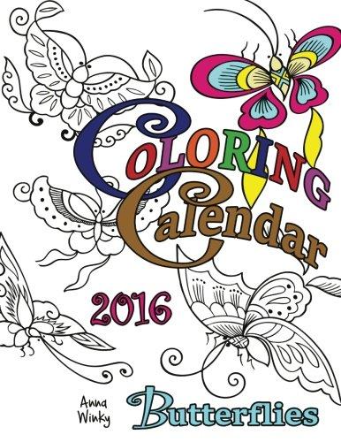 Coloring Calendar 2016 Butterflies Calendars product image