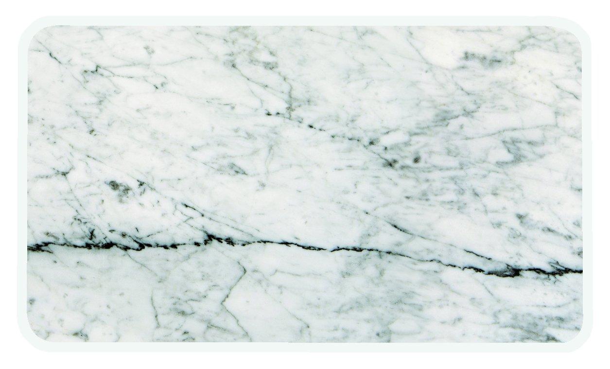 ZAK Designs Tagliere di servizio in plastica, colore: marmo/nero, Plastica, Marbre/Blanc, 23,5 x 16 cm 1303-130