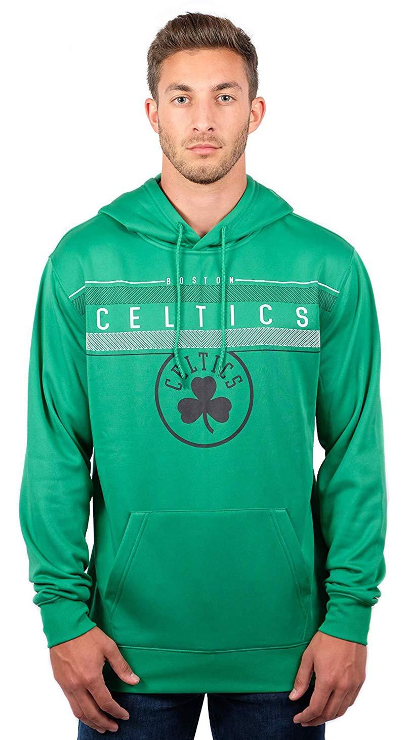 NBA Boston Celtics Men's Fleece Hoodie Pullover Sweatshirt Poly Midtown, Small, Kelly Green