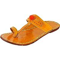 AMPEREUS Women's Pure Leather Kolhapuri Shoes