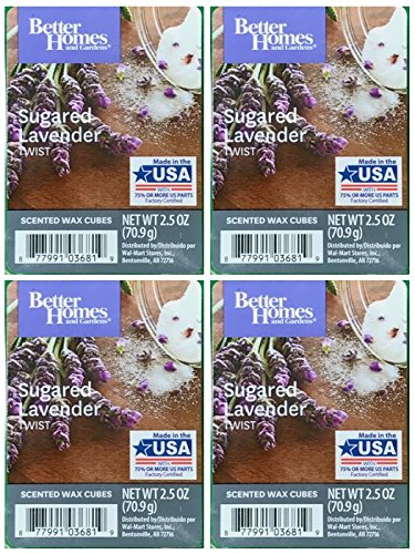 - Better Homes and Gardens Sugared Lavender Twist Wax Cubes - 4-Pack