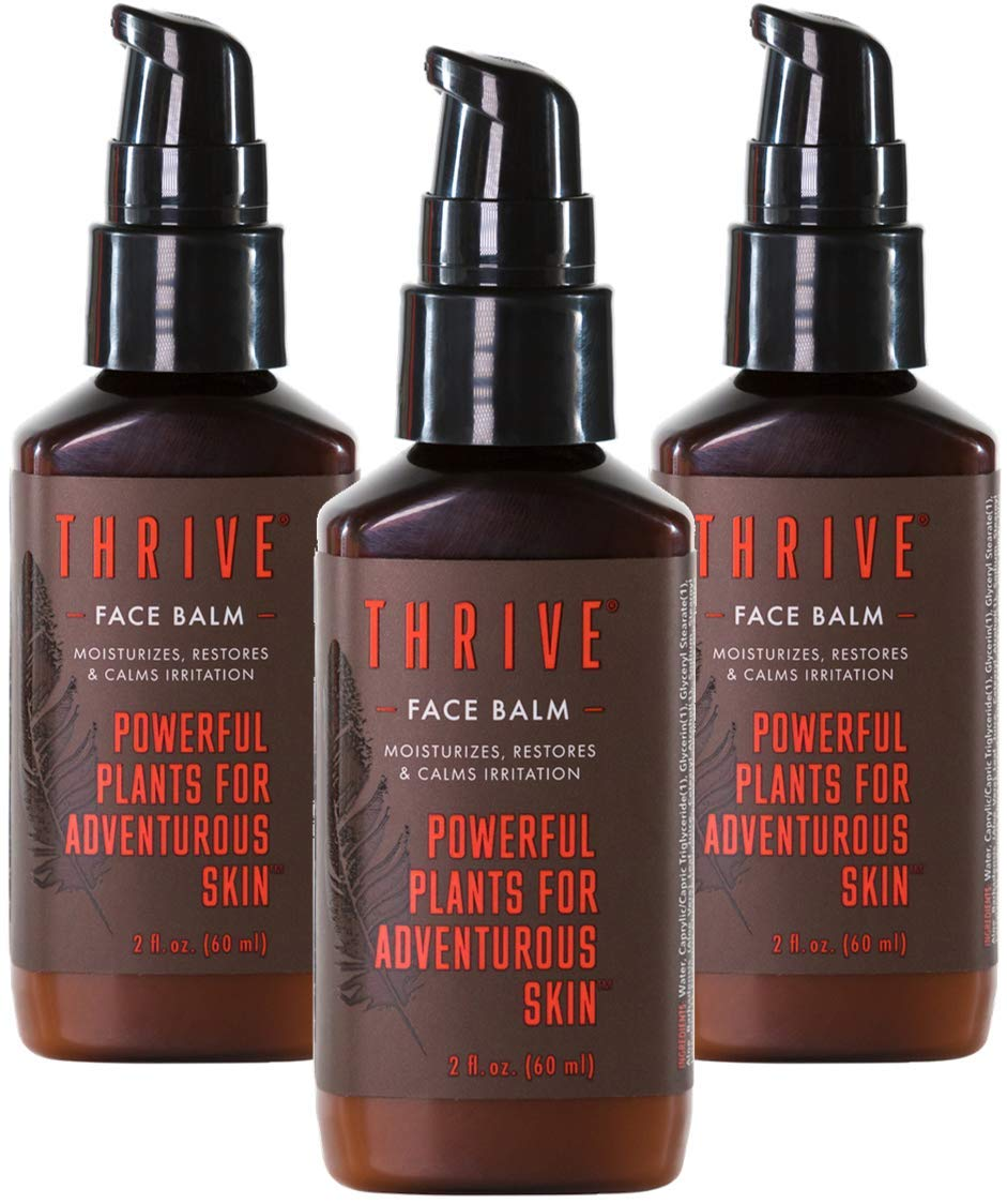 Thrive Natural Face Moisturizer Lotion (3 Pack) – Non-Greasy Soothing Facial Moisturizer for Men & Women Made in USA with Natural & Organic Ingredients Keep Skin Hydrated & Help Soothe Skin