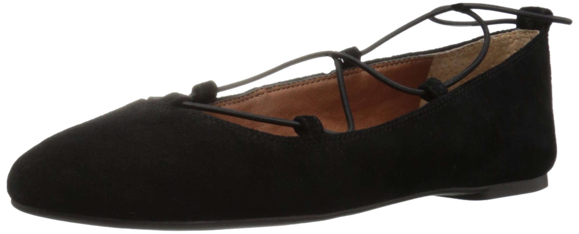 Lucky Brand Women's Aviee Pointed Toe Flat, Black, 6 Medium US