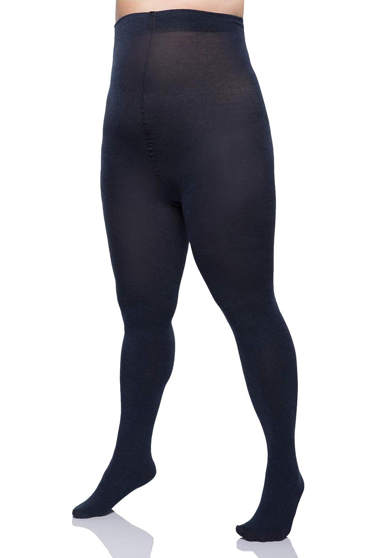 c15e9448c2760 Plus Size Tall 60 Denier Opaque Tights - Extra Long Black: Amazon.co.uk:  Clothing