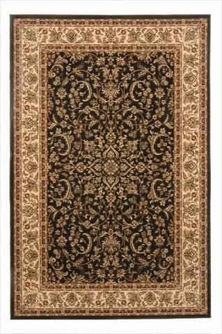 Radici 1318-1520-BLACK Noble Rectangular Black Traditional Italy Area Rug, 3 ft. 3 in. W x 5 ft. 4 in. - Noble Radici Rug Black