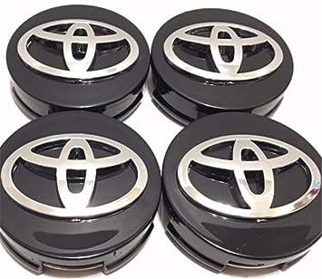 xinglong 4 Piezas, Wheel Emblem Center, Tapas de buje, Toyota, Negro, 62 mm: Amazon.es: Coche y moto
