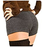 Charcoal Small Sexy Low Rise Yoga & Dance Shorts Stretch Knit KD dance New York Made In USA