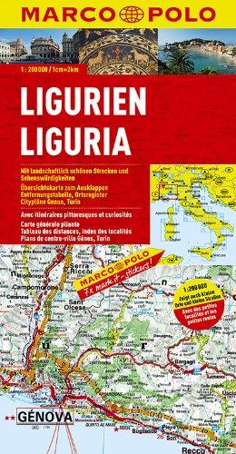 MARCO POLO Karten 1:200.000: MARCO POLO Karte Ligurien 1:200.000