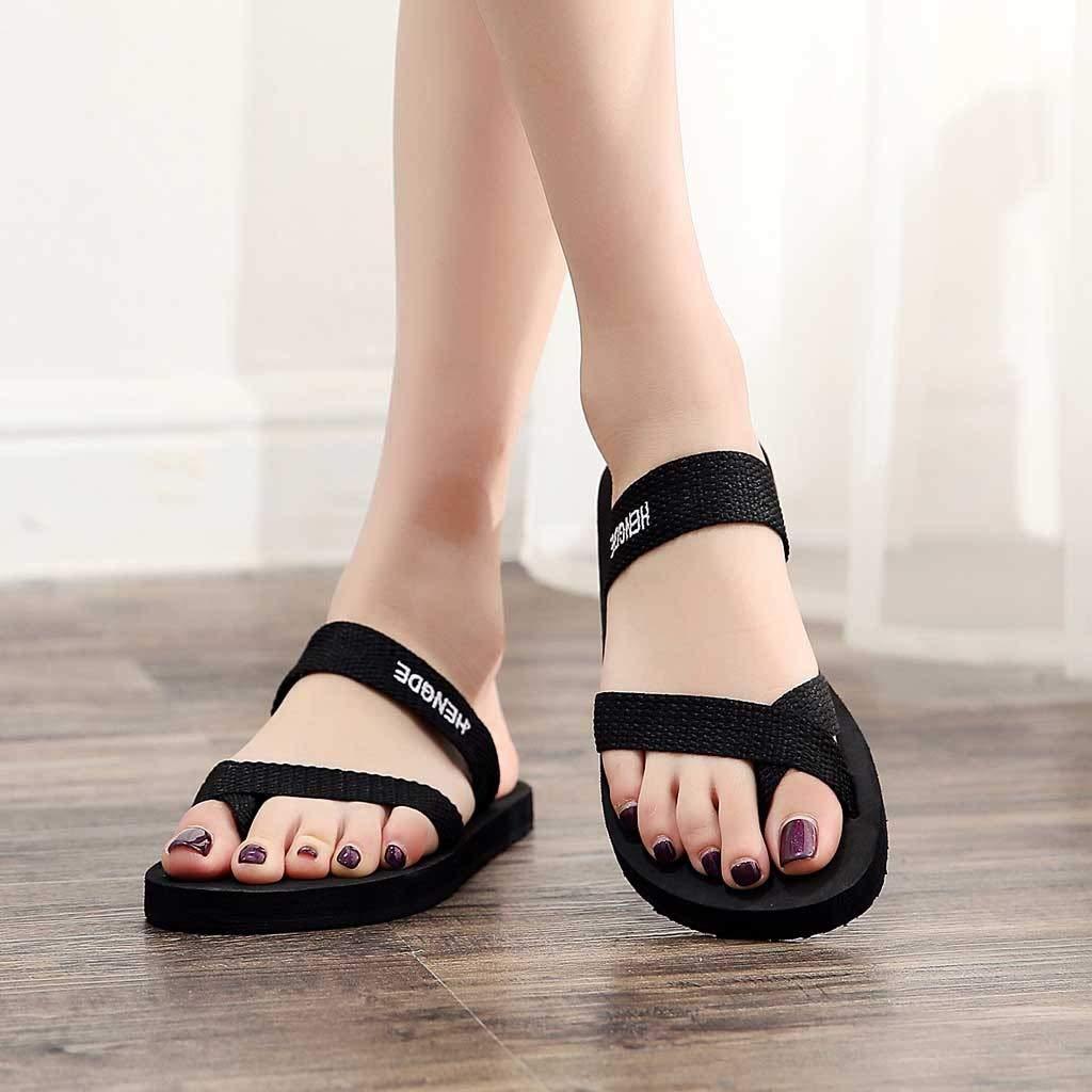 14341256277e7 Amazon.com: ❤ Sunbona Women Flat Sandals Ladies Summer Open Toe ...
