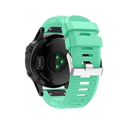 Sannysis Correa de Reloj Garmin Fenix 5X - Correa de Banda de Kit de Lanzamiento rápido Garmin Fenix 5X Correa quickfit de Silicona para Garmin Fenix ...