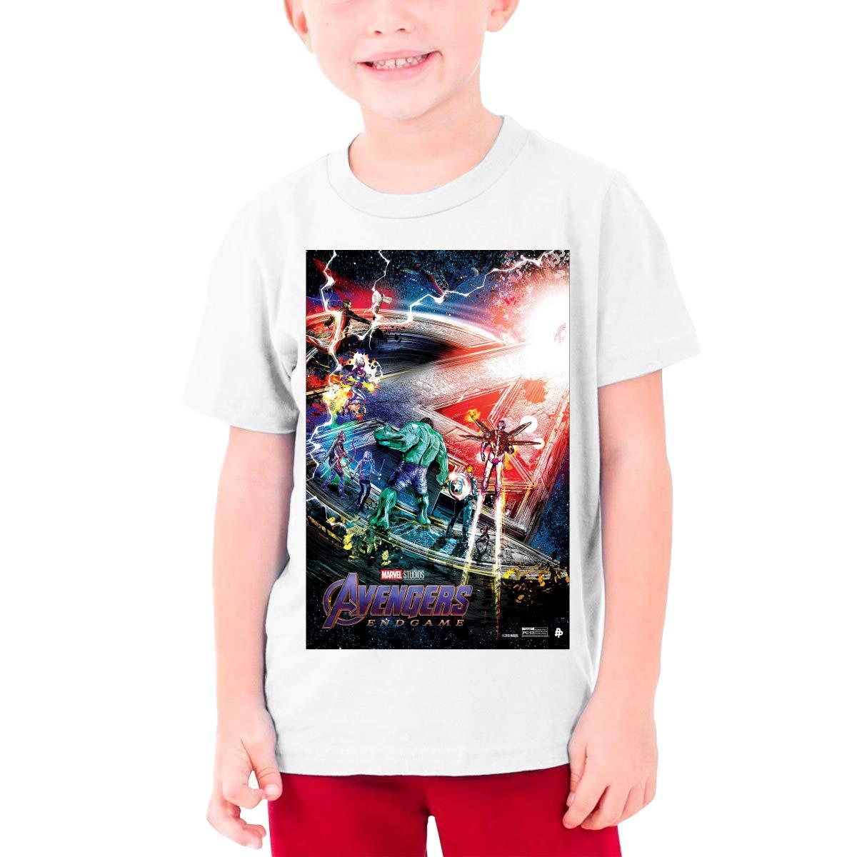 Lianliya Unisex Girls Ave Ngers End Game Short Sleeve Tee T Shirts 8000