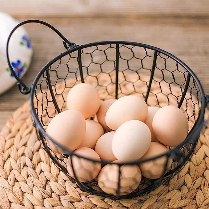 contenitore per uova in ferro battuto Contenitore per uova in metallo moderno grande dispenser per uova sode cestino per frutta e verdura e uova