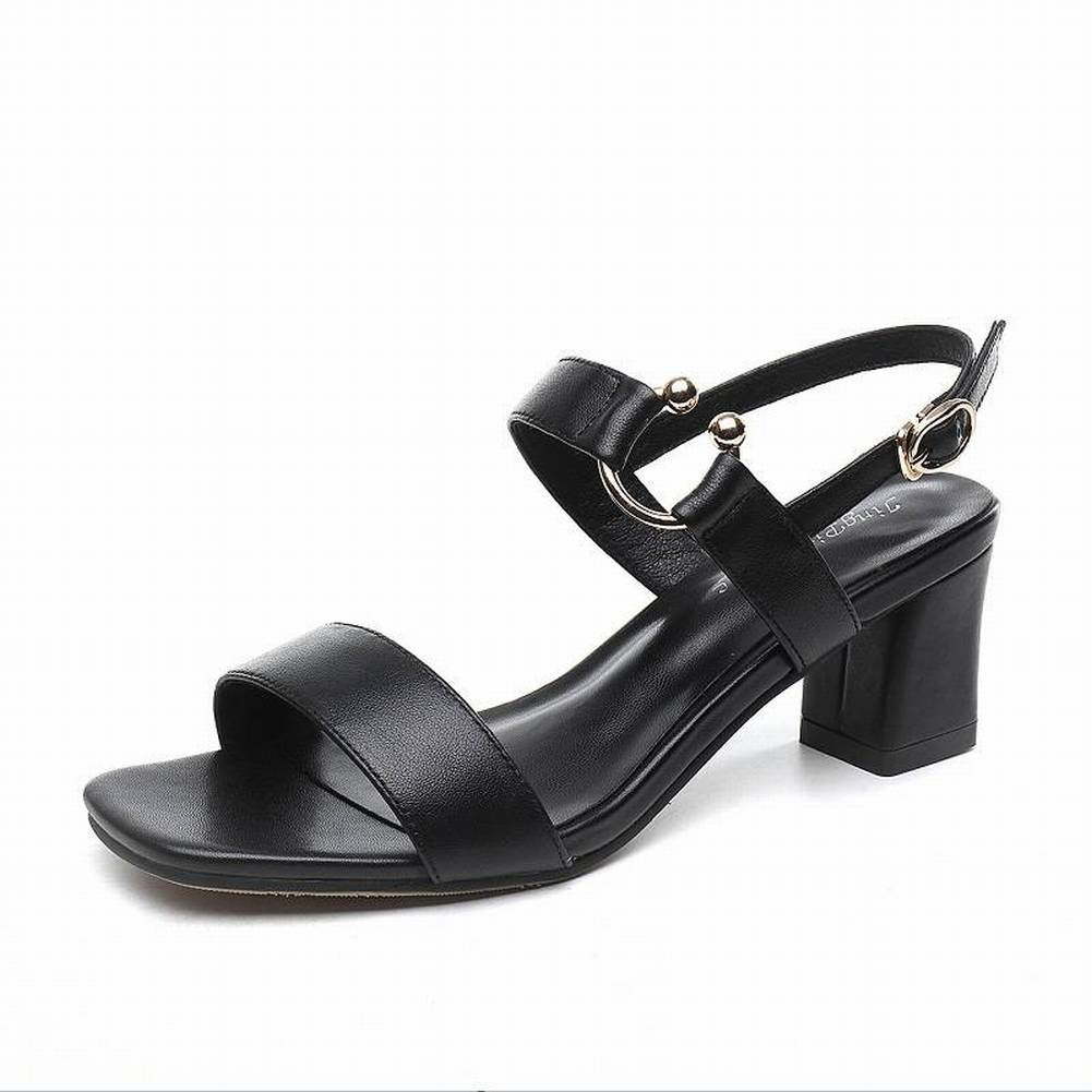820015a9d42270 Mode Leder Sandalen Frauen Wort Schnalle Rau mit Frauen Schuhe Wilden  Hochhackigen Flachen Mund Frauen Schuhe Trend Mode Sandalen Erwachsene  Rindfleisch ...