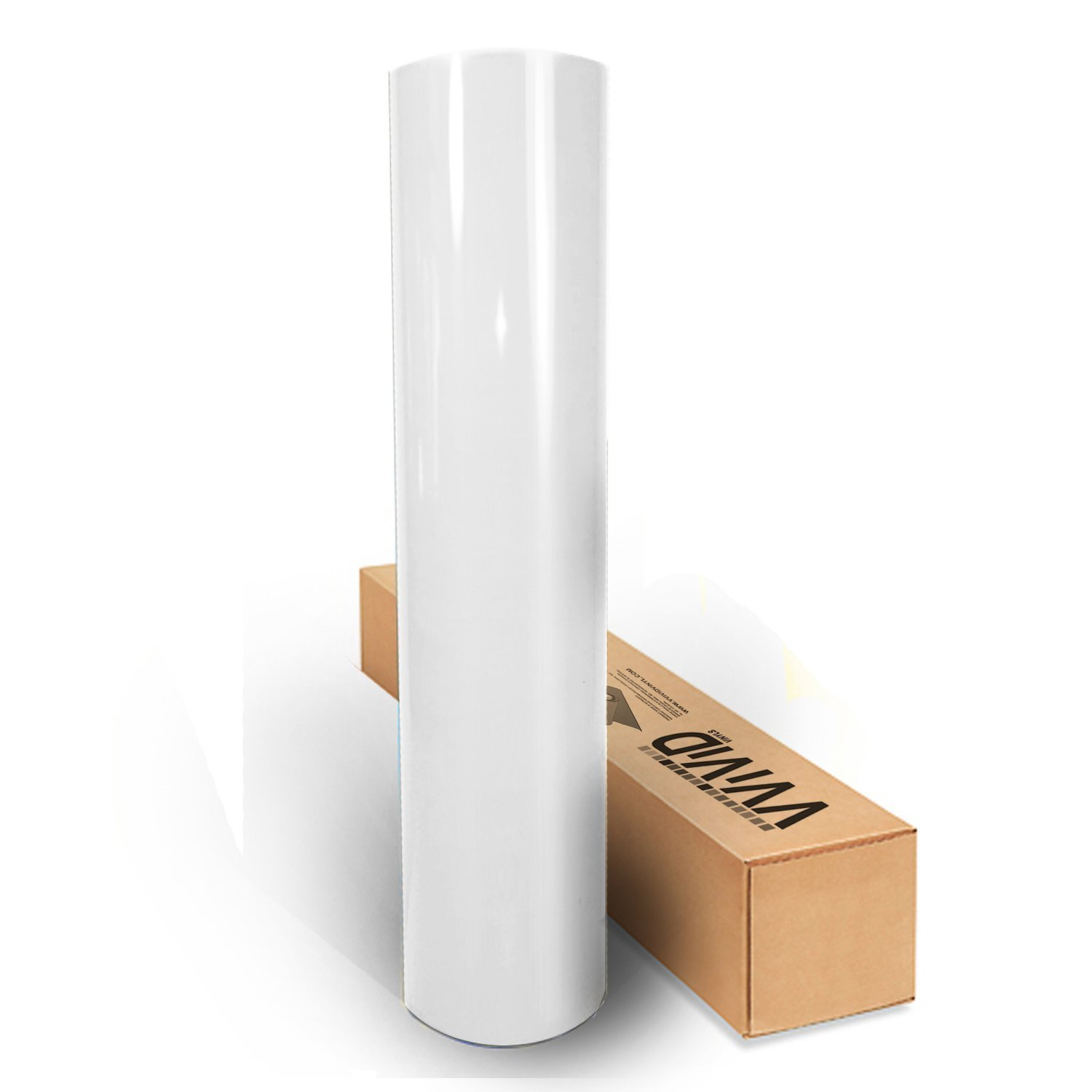 White High Gloss Realistic Paint-Like Microfinish Vinyl Wrap Roll With VViViD XPO Air Release Technology - 1ft x 5ft