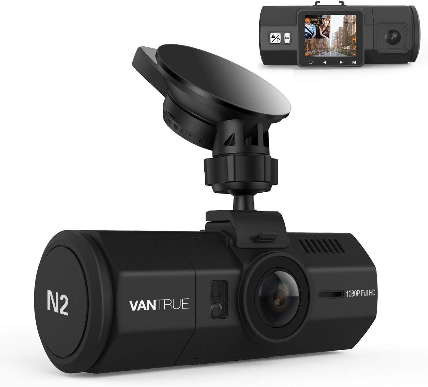 Vantrue N2 Dual Dash Cam FHD 1080P Frontal y trasera Dashcam para automóviles, 1.5
