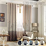 Cheap Blackout Curtain Printed Mediterranean Castle Finished Cloth Blind Grommet Top For Living Room Kid's Study Bedroom Kitchen Black Thread Inside Window Treatments, WINYY 1 Panel W114 x H96 inch