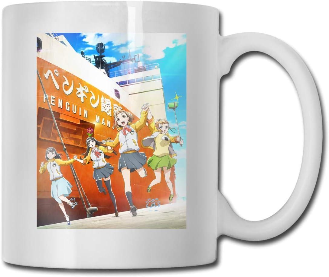 Un Endroit Plus Loin Que Le universo (Sora Yori Mo Tooi Basho) Anime Cups o cónyuge – Perfecto regalo Borthday Taza de café de cerámica, multicolor, 11 oz