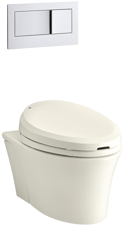 KOHLER K-6300-0 Veil Wall-Hung Elongated Toilet Bowl, White ...