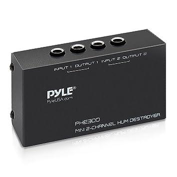 Pyle PHE300 - Amplificador de auriculares (elimina ruidos y zumbidos con 2 canales)