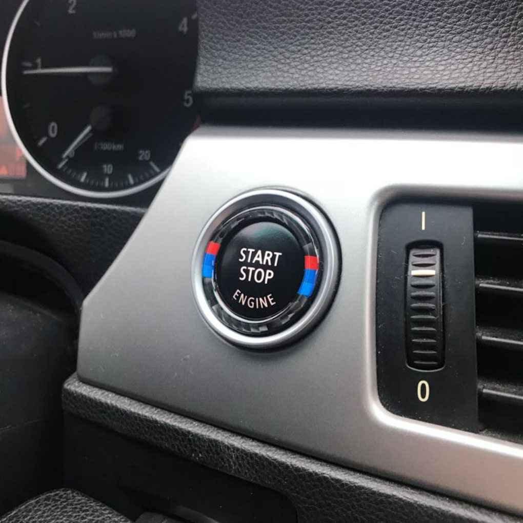 Xuanhemen for BMW 3 Series E90 E92 E93 2005-2012 Car Engine Start Stop Button Cover Trim Carbon Fiber Decor Accessory by Xuanhemen (Image #3)