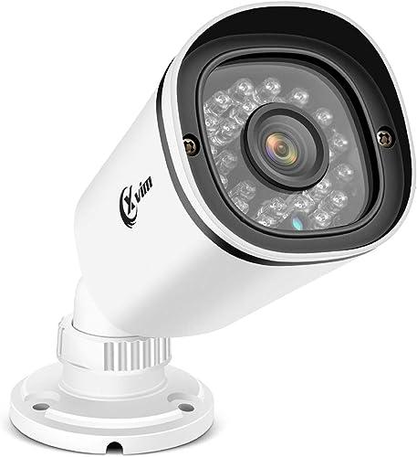 XVIM 2.0MP 1080P Home Security Camera HD CCTV Camera 24PCS IR-LEDs 100ft Night Vision Waterproof Surveillance Camera, Aluminum Metal Housing for HD-TVI, AHD, CVI, and 960H CVBS Analog DVR