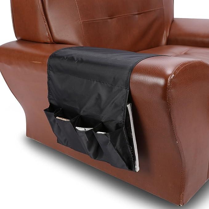 Poltrone sacco//Pocket Piegata Multi Colori Per Divano Poltrona Porta Colore : Nero Sacchetto DAttaccatura 4 Tasche DellOrganizzatore Di Immagazzinaggio