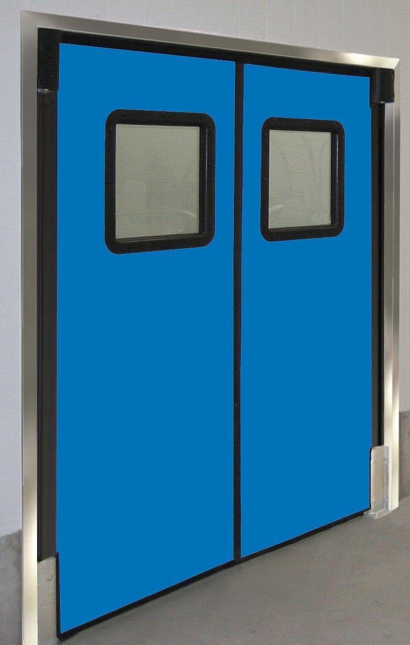 Polyethylene Swinging Door Royal Blue; Number of Doors: 2 6 ft.W x 8 ft.H Chase Doors 7296RDXHDRBL