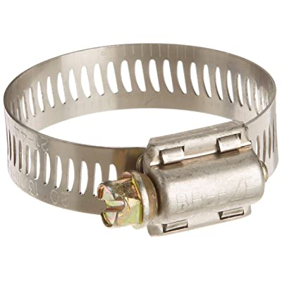 Pack of 20 Breeze Power-Seal Stainless Steel Hose Clamp Worm-Drive SAE Size 20 3/16 Inch to 1-3/4 Inch Diameter Range 1/2 Inch Band Width: Automotive