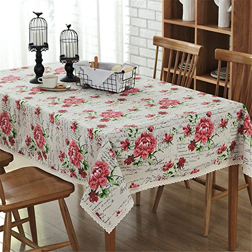 PinkMemory Vintage Floral Patterns Tablecloth Rectangular...
