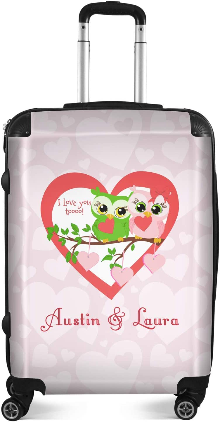 Valentine Owls Suitcase Personalized 20 Carry On