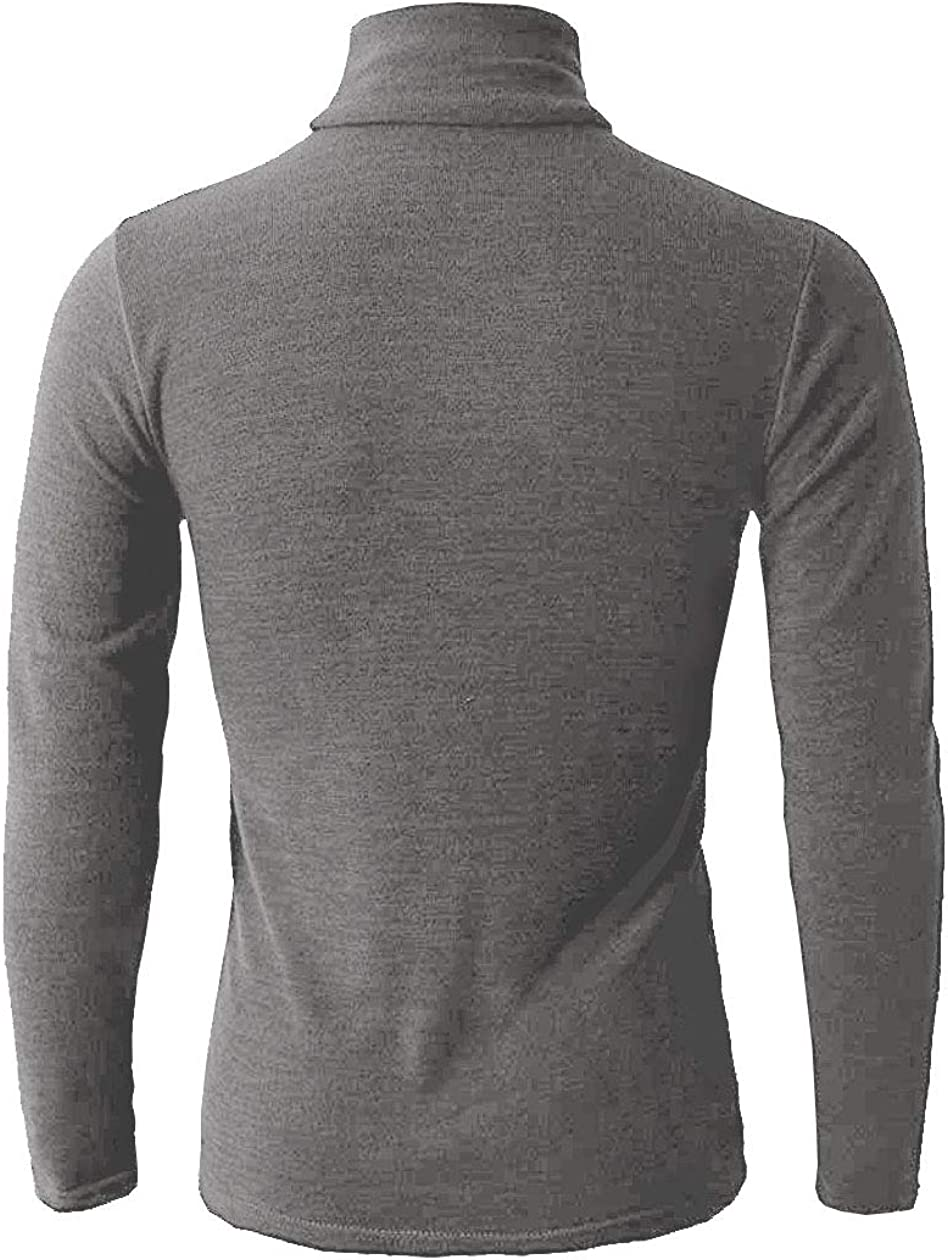 Mens Classic Sweater Long Sleeve Crewneck Knit Pullover Casual Top