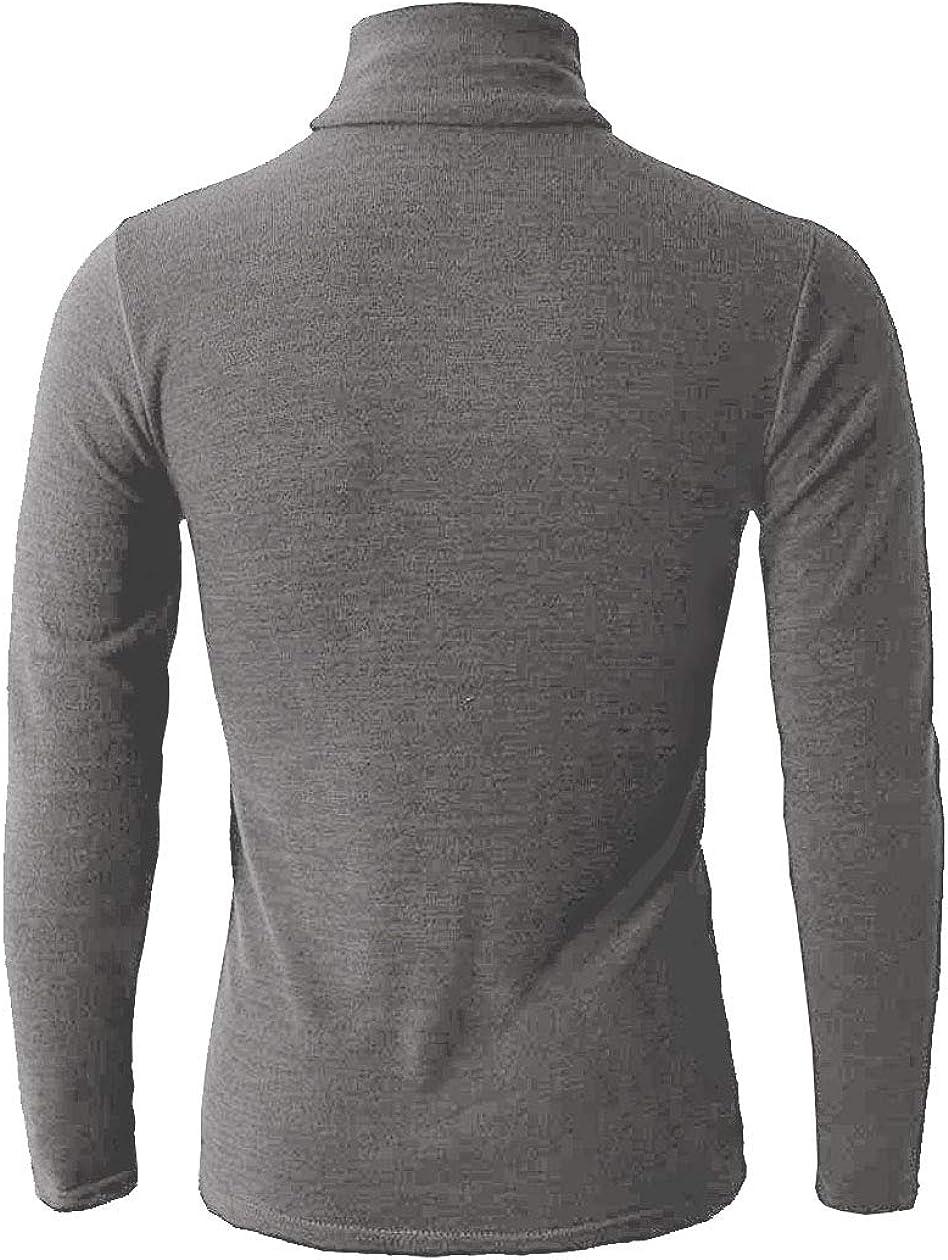 Beloved Mens Basic Thermal Turtleneck Slim Fit Pullover Thermal Sweater
