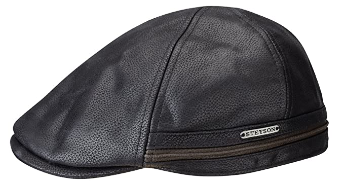 Stetson Redding Earflap Cap for Men Gatsby Leather Cap with Peak ff4ab931cbb