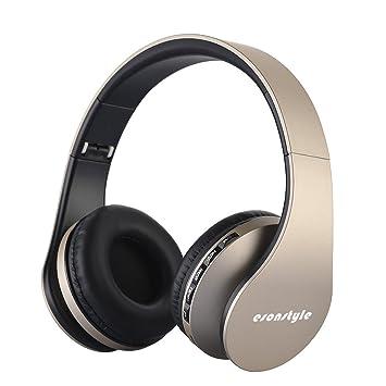 Esonstyle Plegable 4 en 1 Auriculares Inalámbricos Bluetooth Estéreo Auriculares con Micrófono / Audio cable, Apoyo Tarjeta SD, Radio FM para iPhone, ...