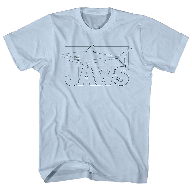 Jaws 1970's Shark Thriller Spielberg Movie Great White Caught Adult T-Shirt