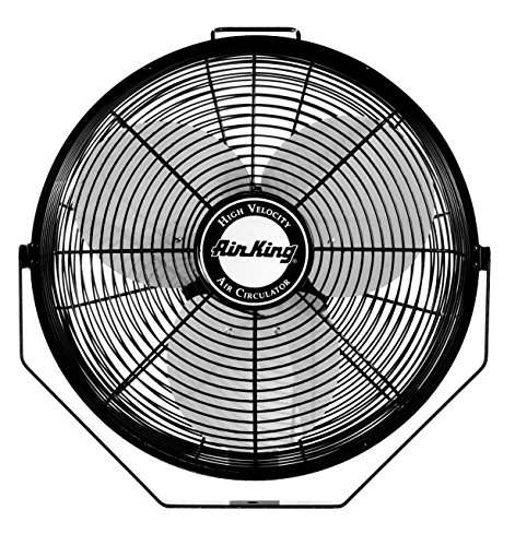 (Air King 9312 Powder-Coated Steel Multi-Mount Wall Fan, Black)