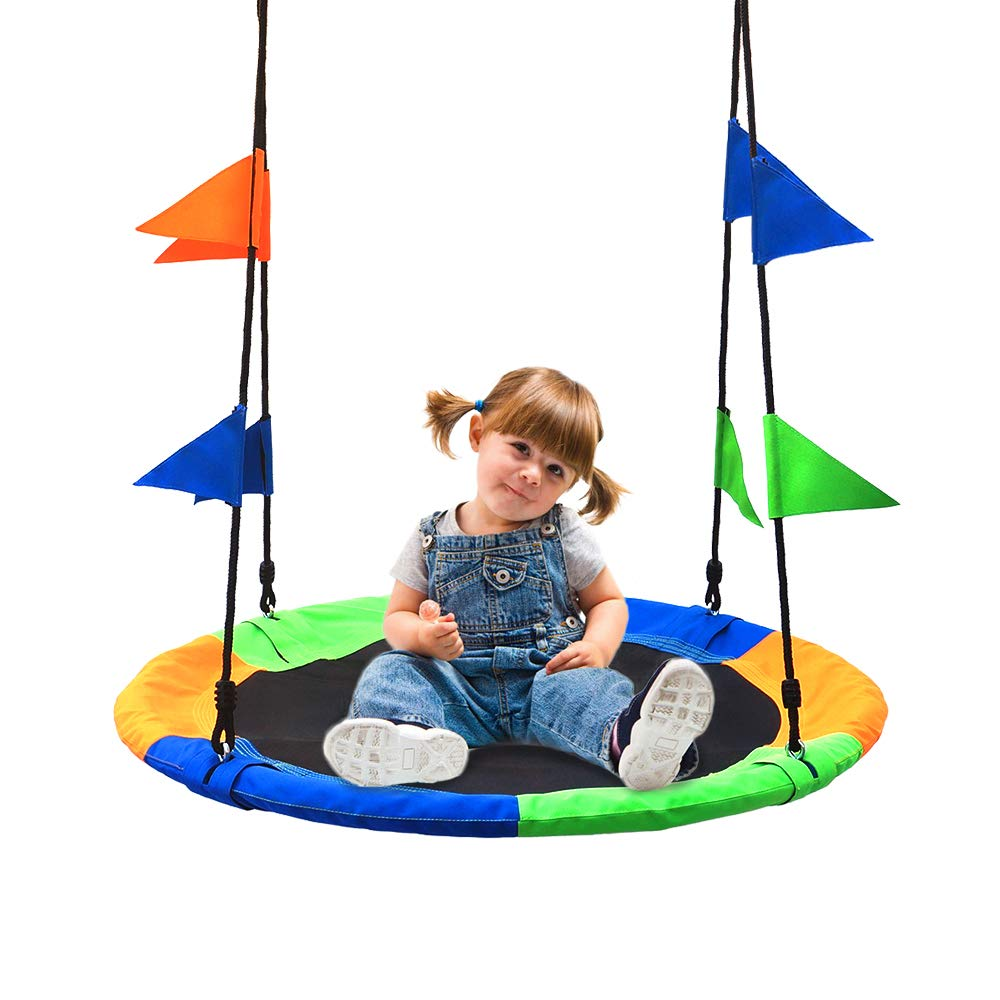 Take Me Away Children's Flying Saucer Tree Swing Giant 40 Inches Diameter Waterproof 900D Oxford Fabric Outdoor Play for Kids by Take Me Away