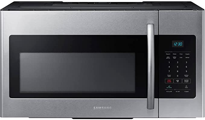 Samsung ME16H702SES 1.6 Cu. Ft. 1000W Over-the-Range Microwave, Stainless Steel