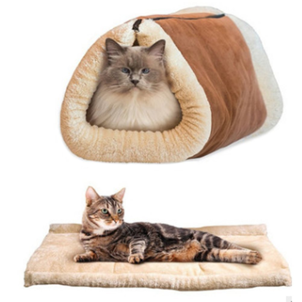 LWestine 2in1 Cat Mat and Bed Heated For Pet Sleep