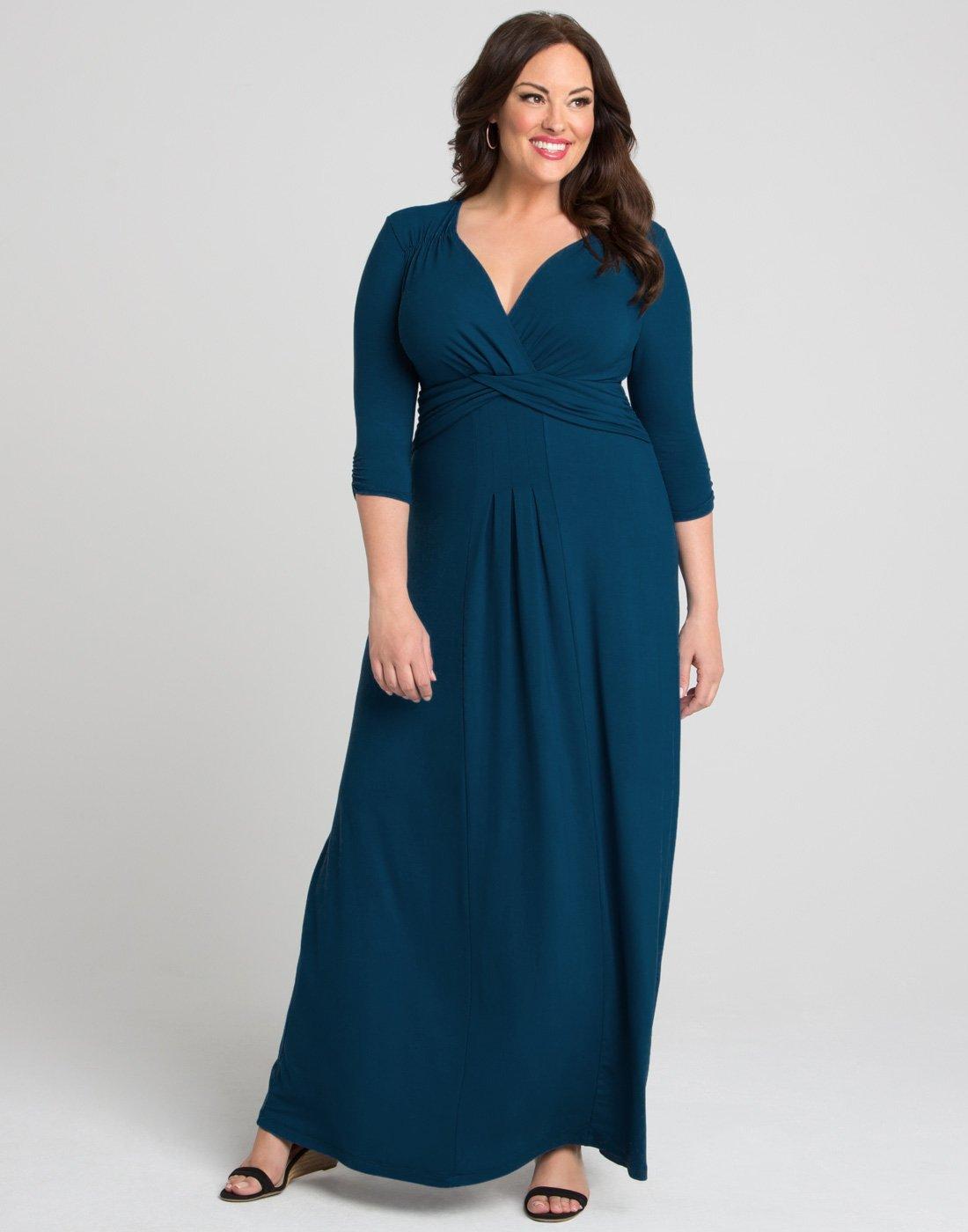 Kiyonna Womens Desert Rain Maxi Dress
